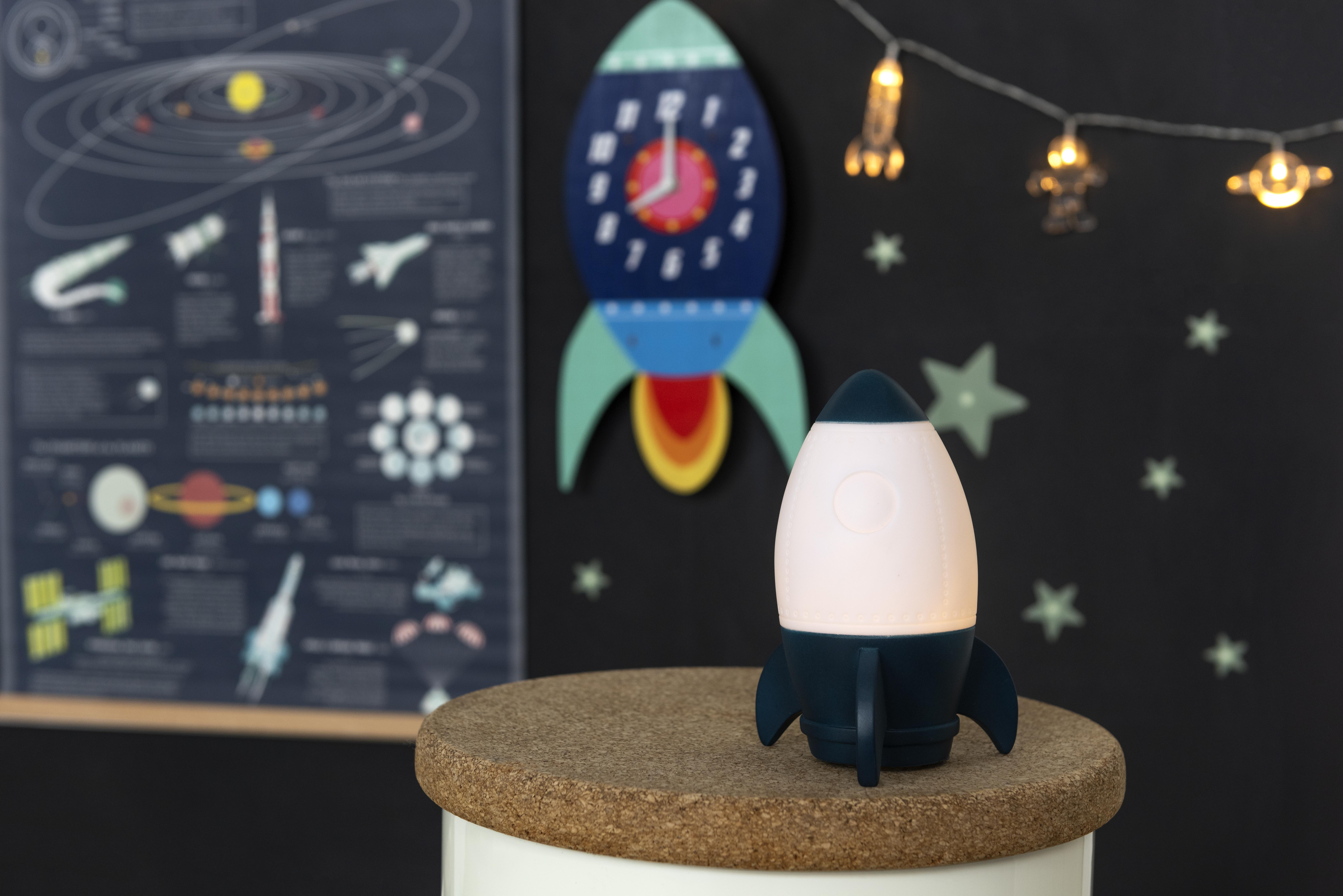 space age bedroom rocket night light
