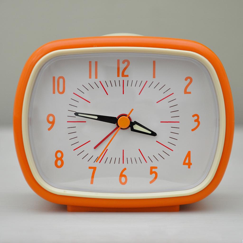 dotcomgiftshop orange retro style alarm clock. Black Bedroom Furniture Sets. Home Design Ideas