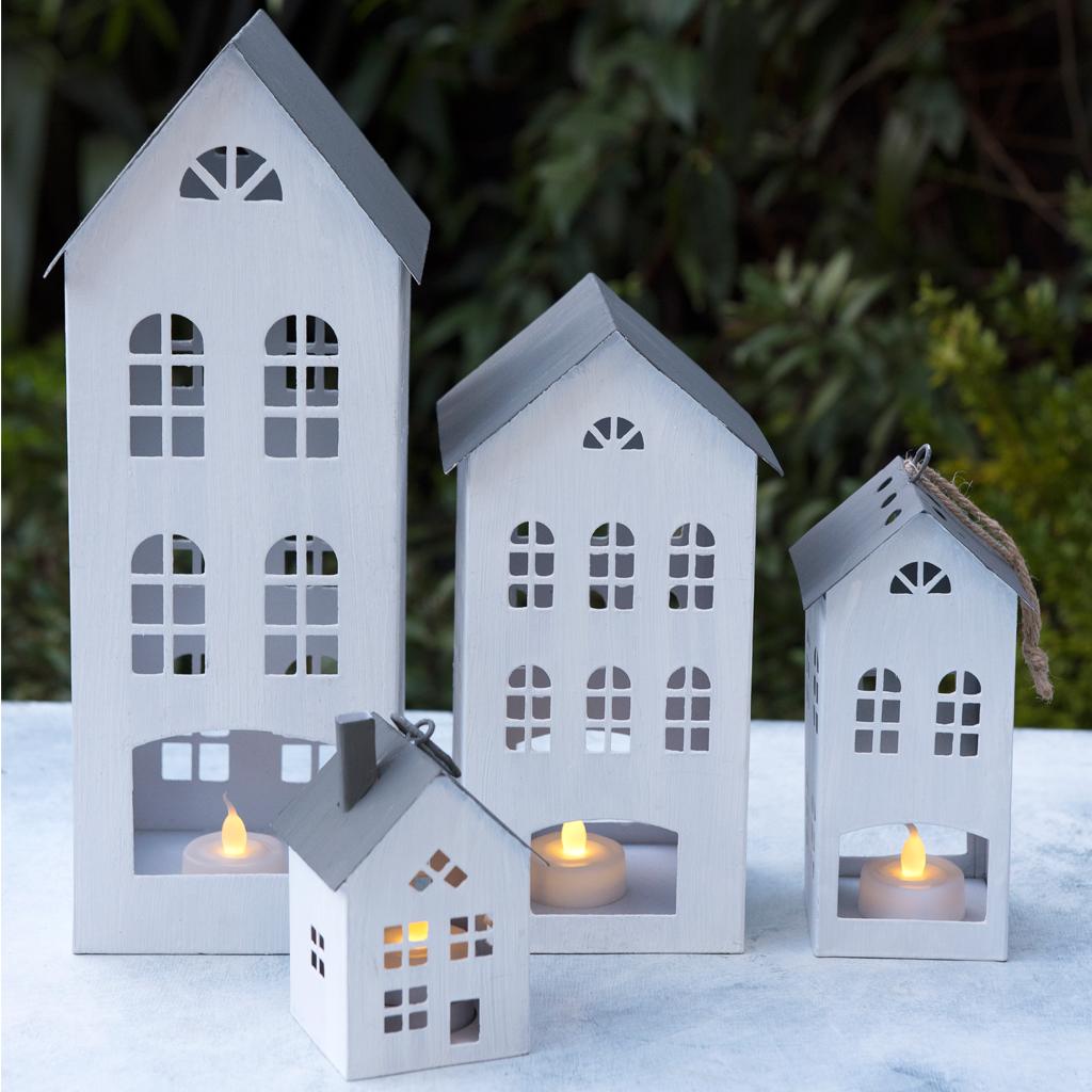 Giant Amsterdam House Tealight Holder | dotcomgiftshop