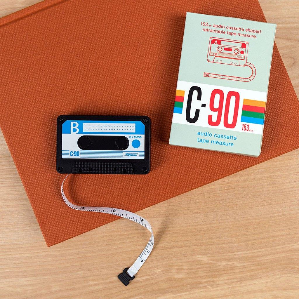 Audio cassette tape measure