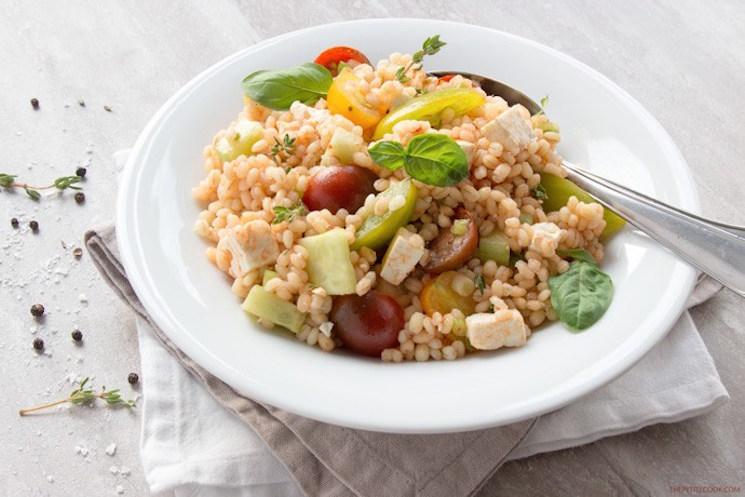 barley Greek salad