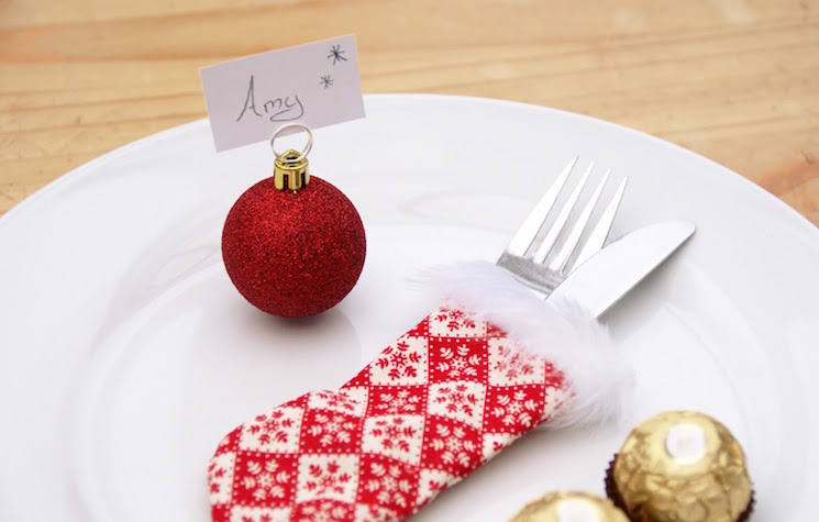 bauble place card