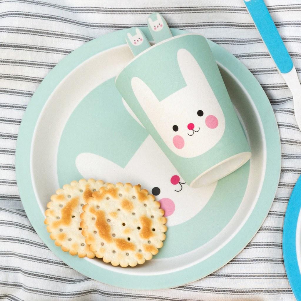 Bonnie the Bunny kids bamboo tableware