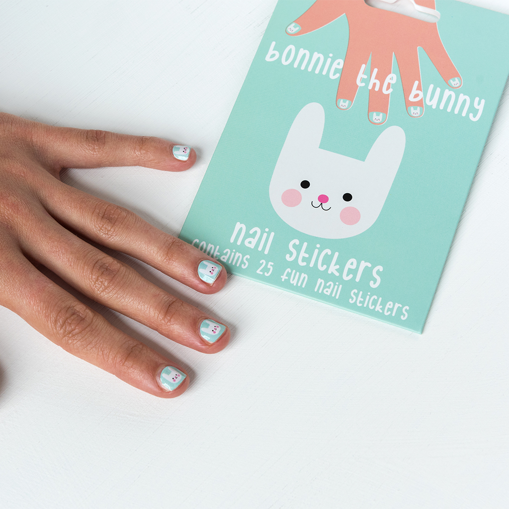 Bonnie the Bunny nail stickers (pack of 25)