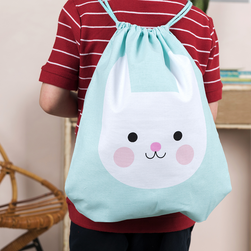 Bonnie the Bunny drawstring bag