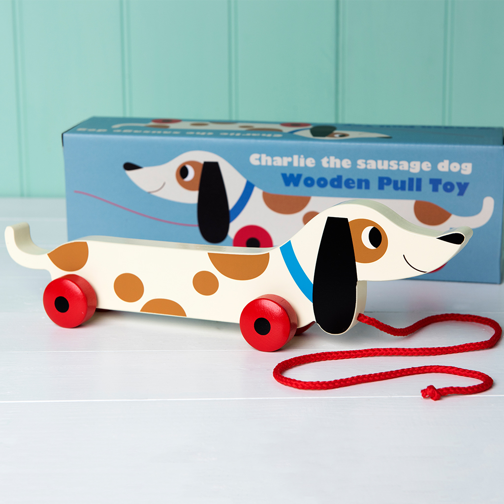 Charlie the Sausage Dog pull toy
