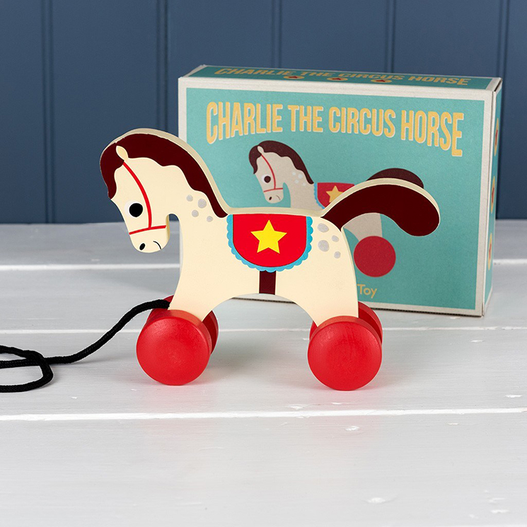 Charlie the Circus Horse wooden pull toy