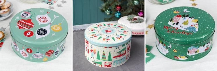 Christmas cake tins from dotcomgiftshop