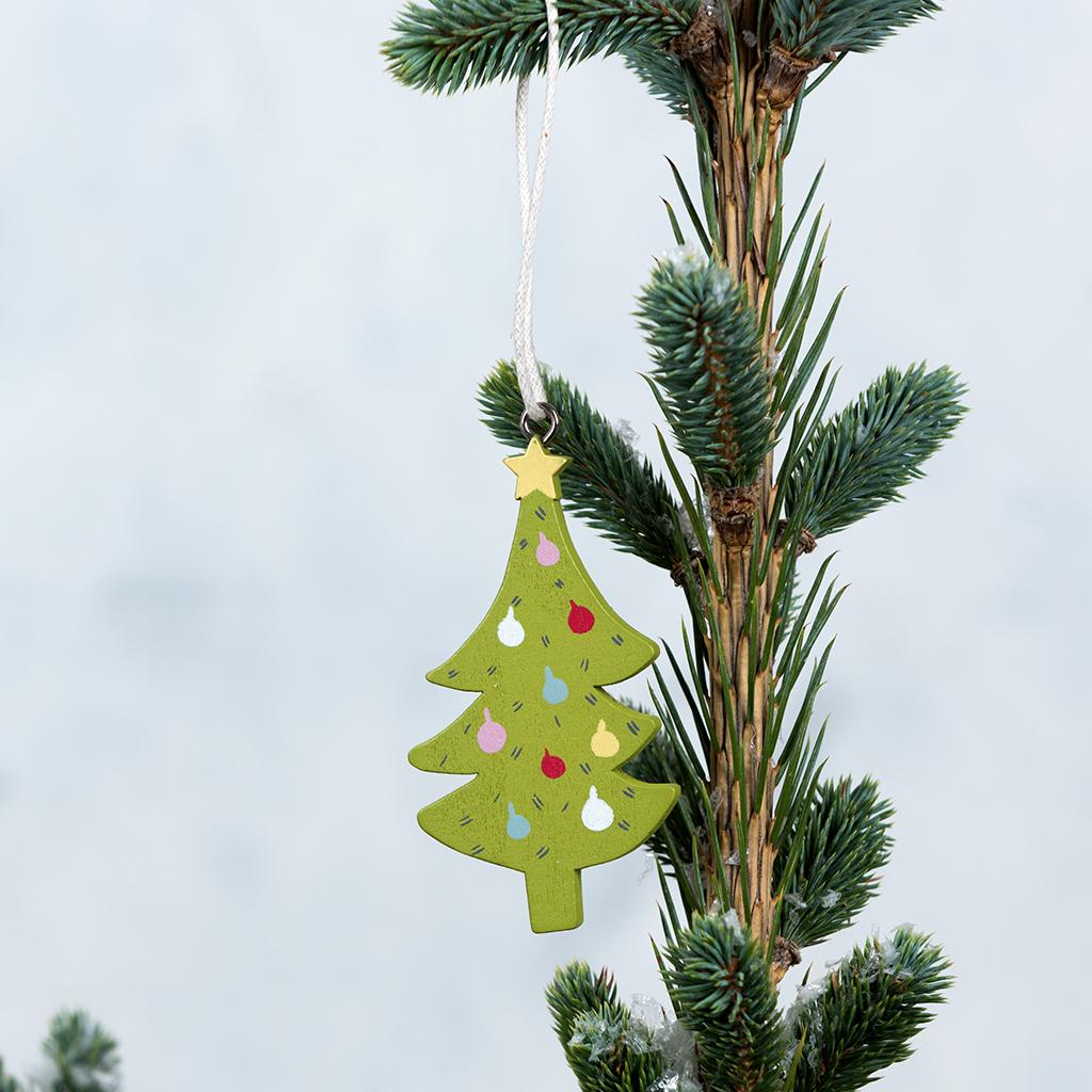 Christmas Tree Wooden Decoration | Rex London (dotcomgiftshop)