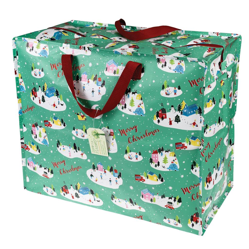 Dotcomgiftshop jumbo storage christmas wonderland recycled