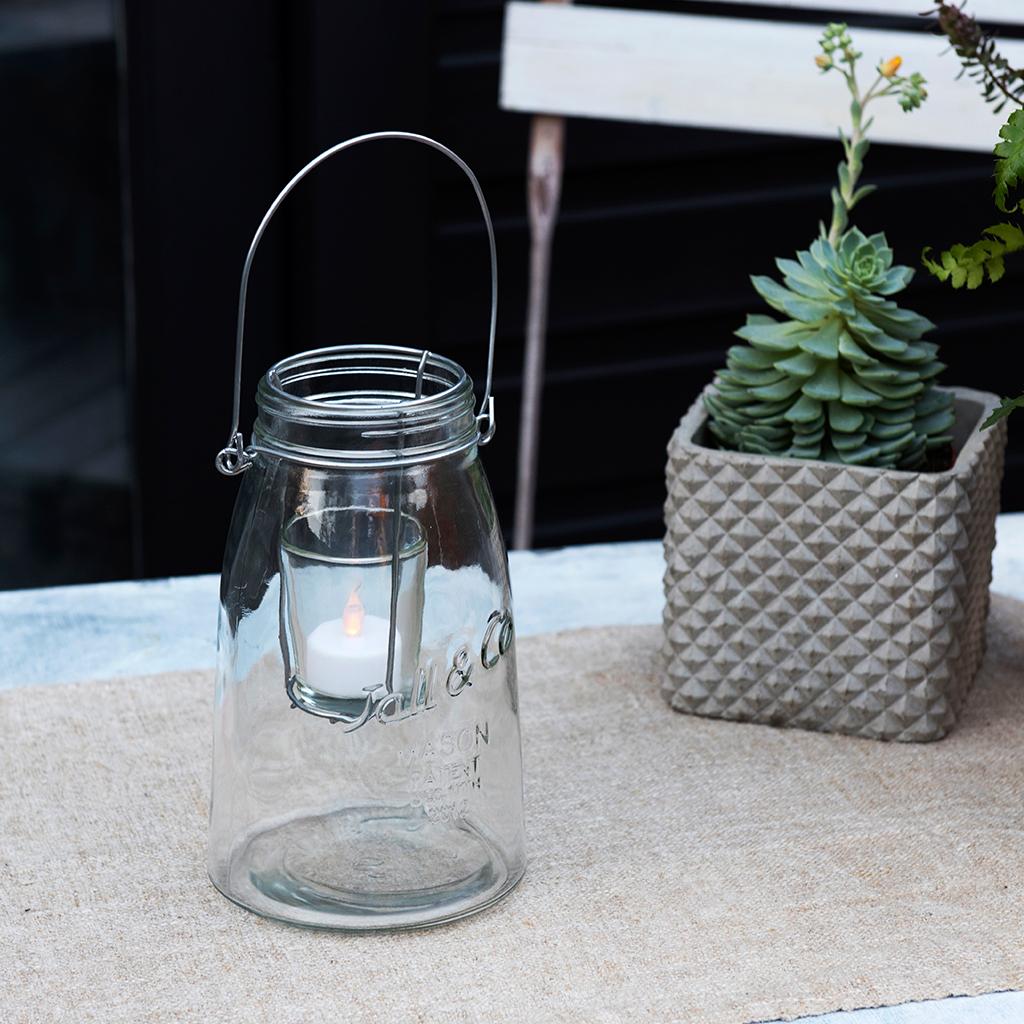 Clear Mason Jar Tealight Holder Rex London Dotcomgiftshop