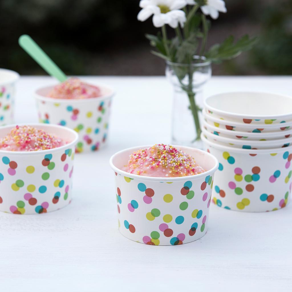 Basket Ribbons Ice Cream Cake