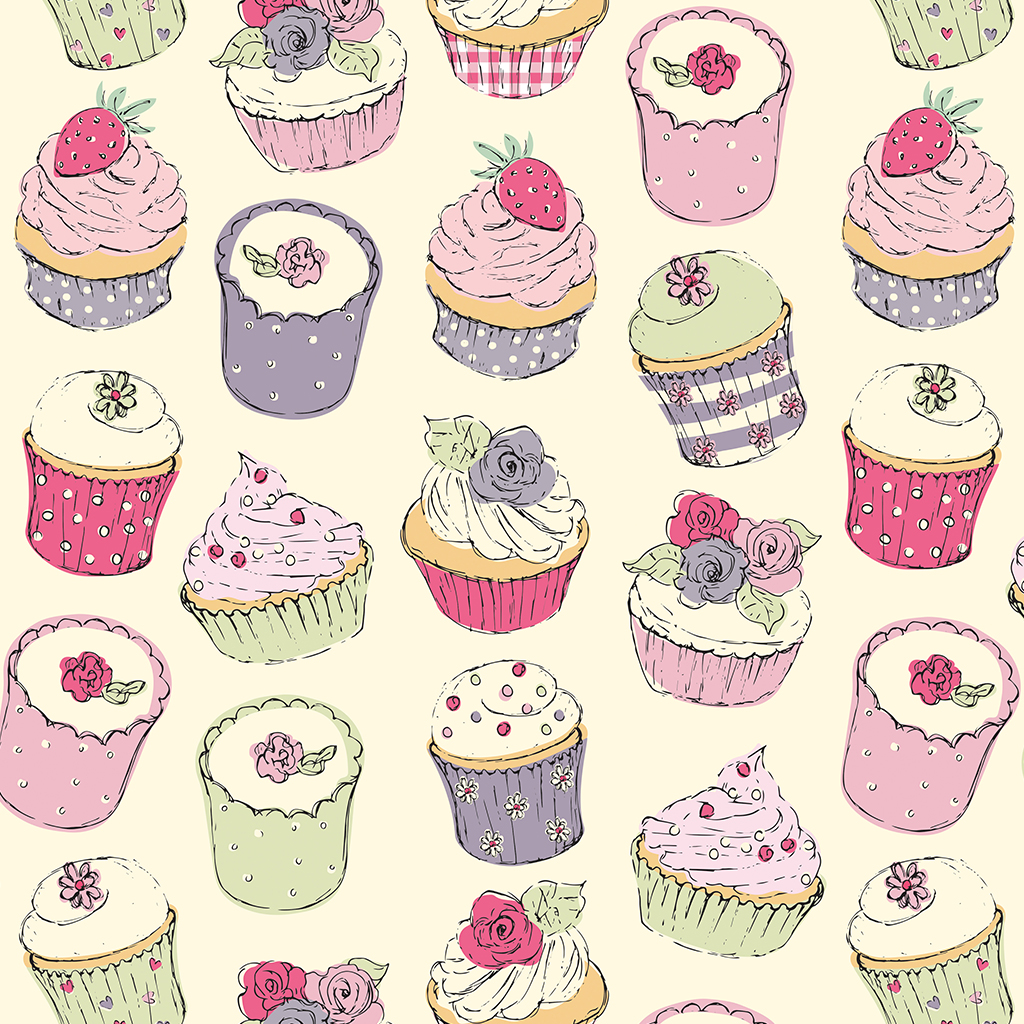 Cupcake Wrapping Paper 5 Sheets Dotcomgiftshop