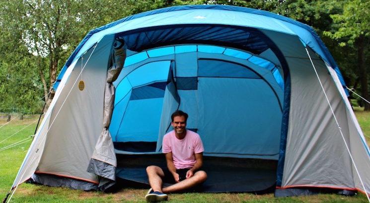 John Adams dadblogUK sat in his tent