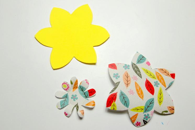 daffodil pinwheels step 1