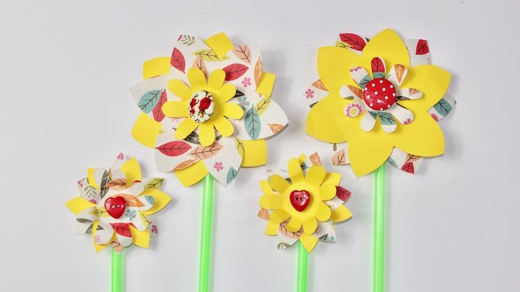 Daffodil pinwheels