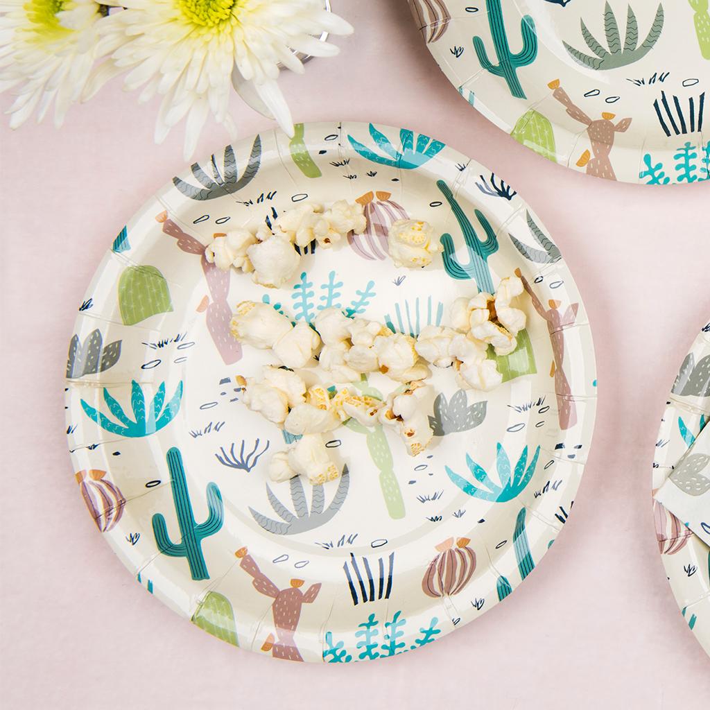 Desert In Bloom Cactus Print Disposable Paper Plates  sc 1 st  Dotcomgiftshop & Desert In Bloom Paper Plates (pack Of 8) | Rex London (dotcomgiftshop)
