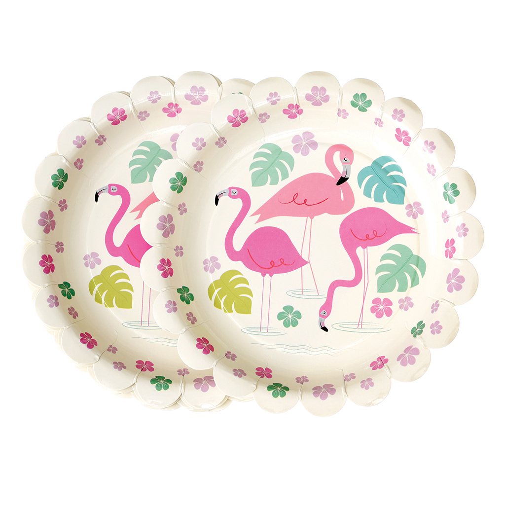 Flamingo Bay Paper Plates Pack Of 8 Rex London At
