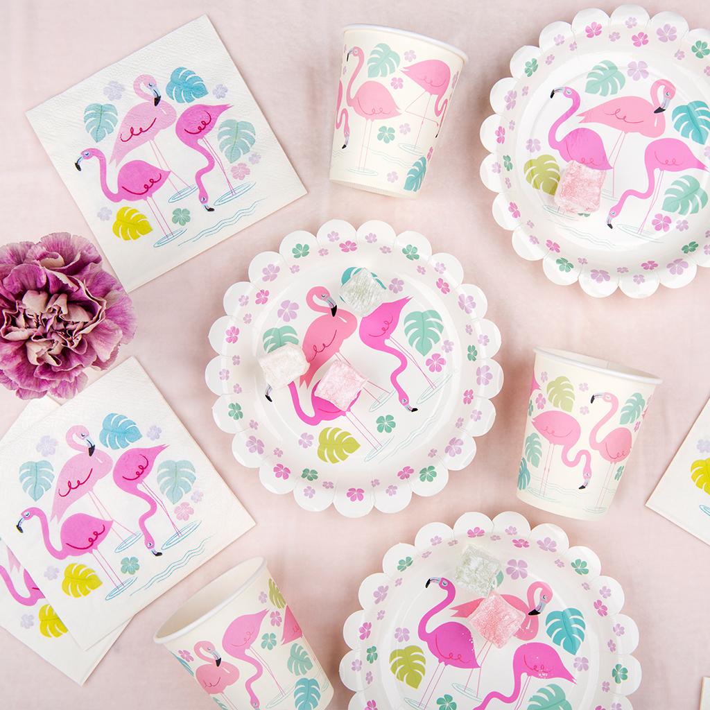 Flamingo Bay pink Party Tableware  sc 1 st  Dotcomgiftshop & Flamingo Bay Paper Plates (pack Of 8) | Rex London (dotcomgiftshop)