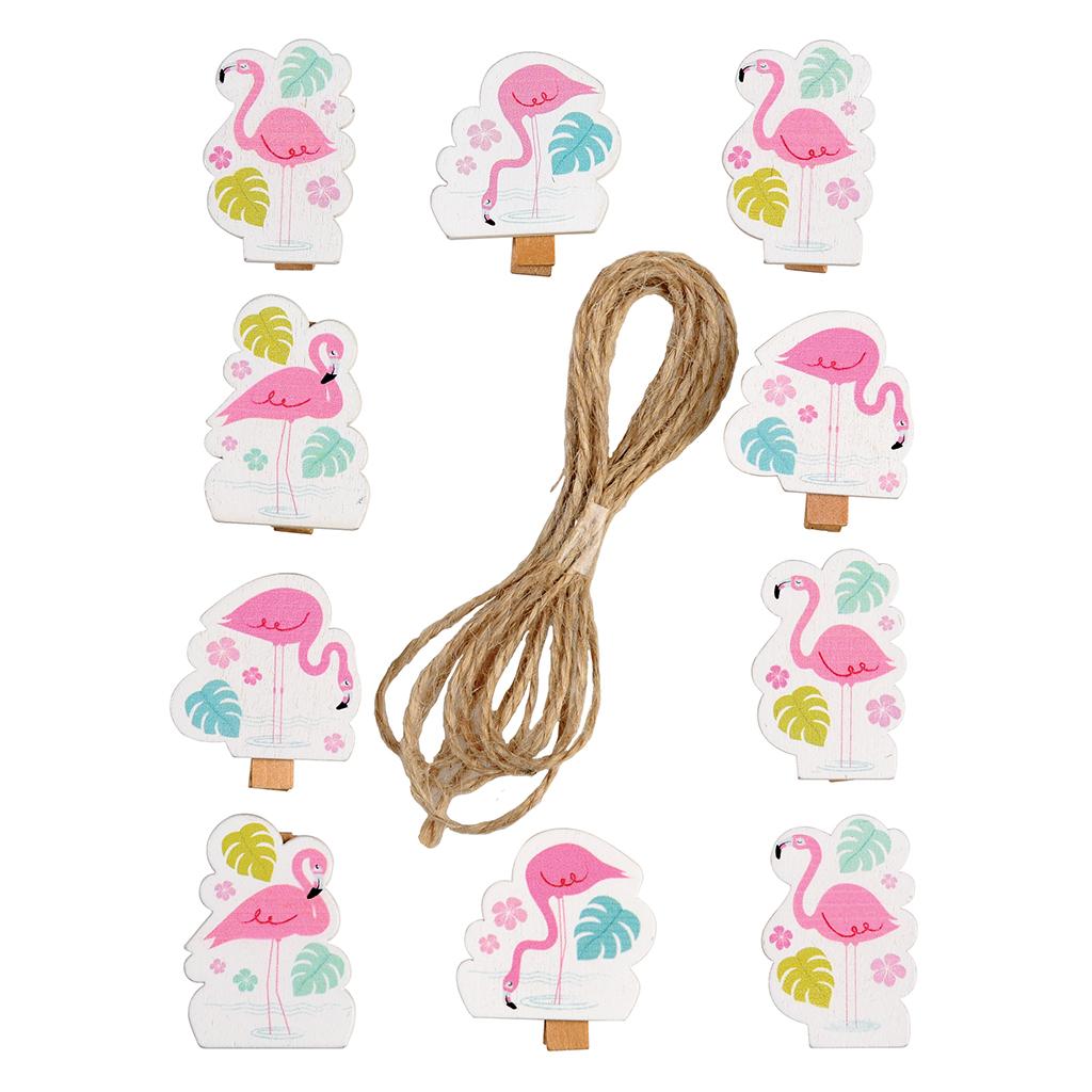 Deko w scheklammern an schnur flamingo bay rex london ehemals dotcomgiftshop - Wascheklammern dekorieren ...