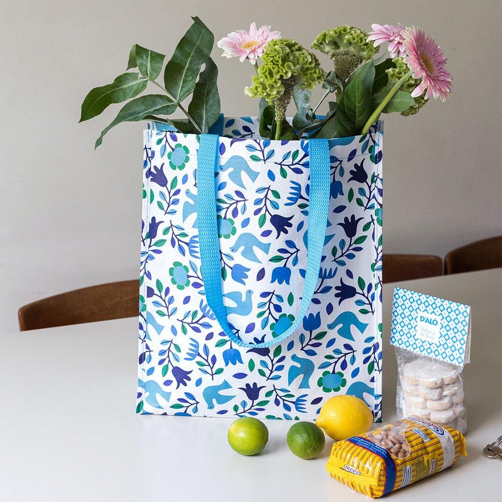 Folk Doves shopping bag
