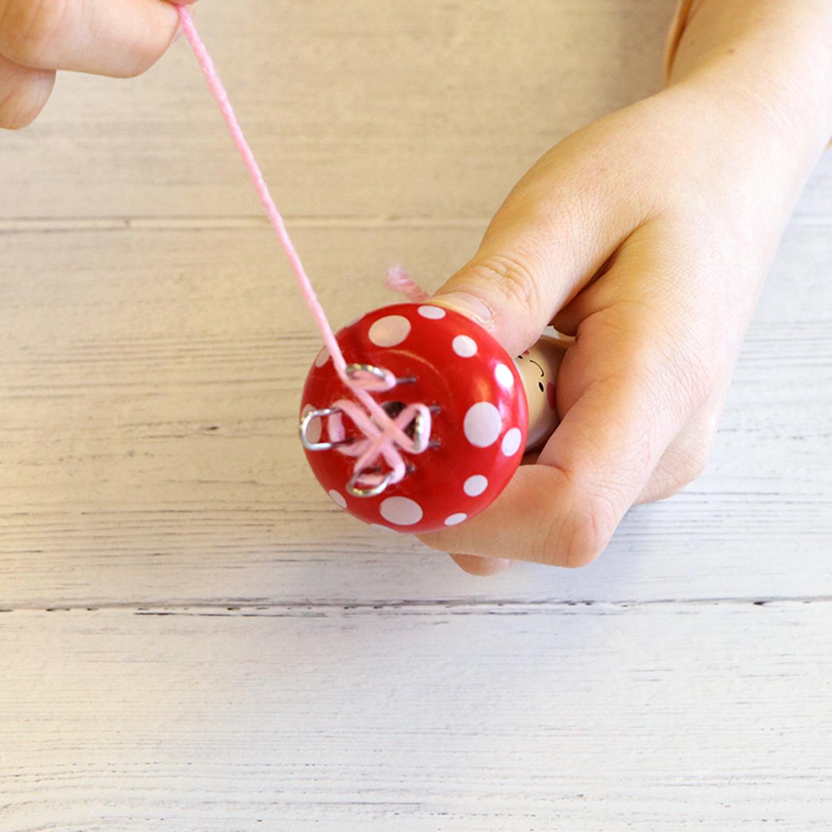 French knitting tutorial step 4