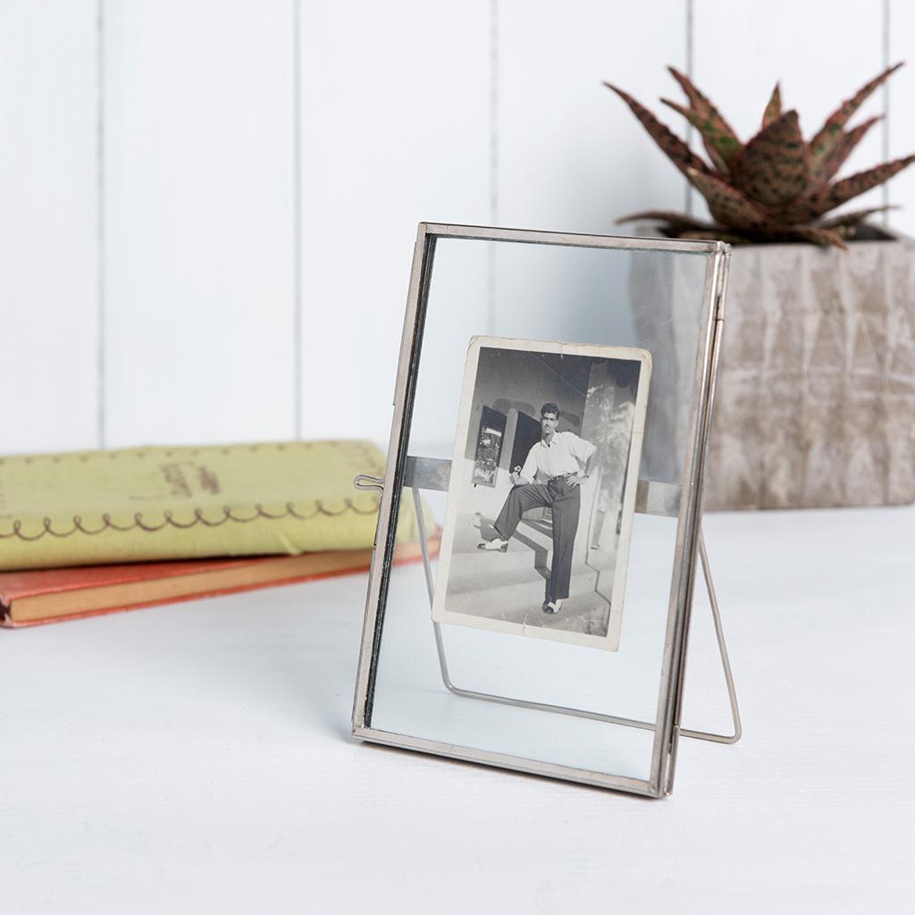 Standing Brass Frame In Silver 15x10cm | Rex London (dotcomgiftshop)