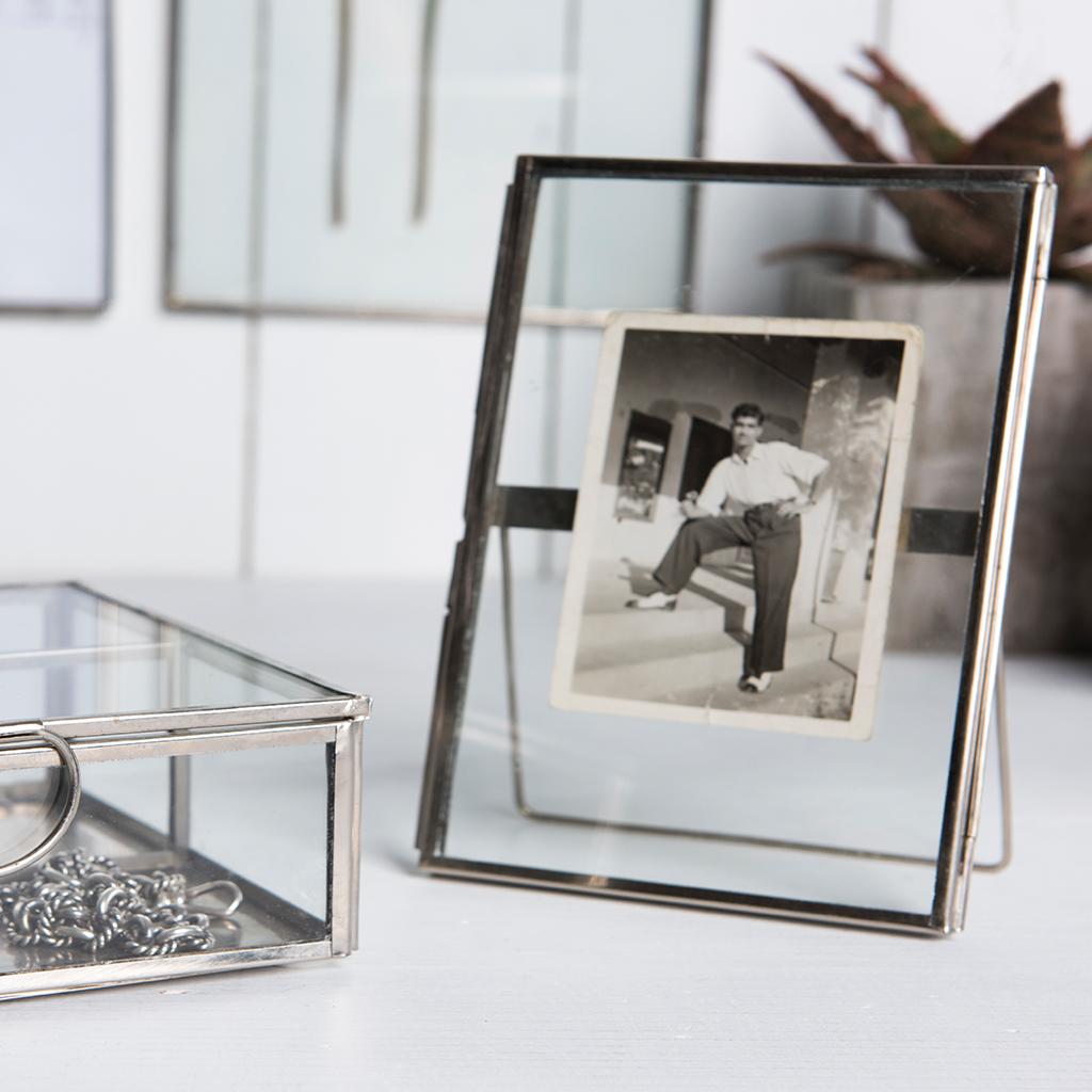 Standing Brass Frame In Silver 18x13cm | Rex London (dotcomgiftshop)