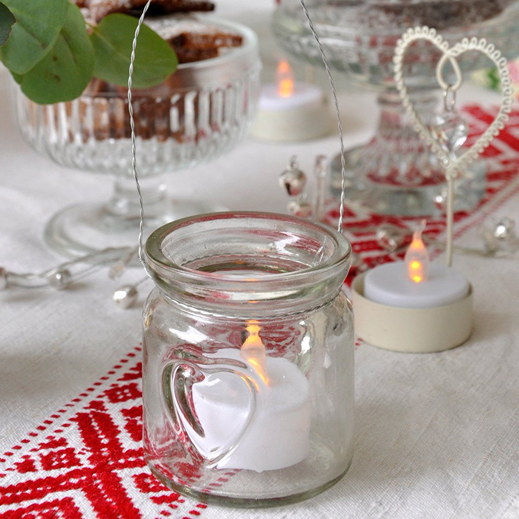 Mini heart jam jar