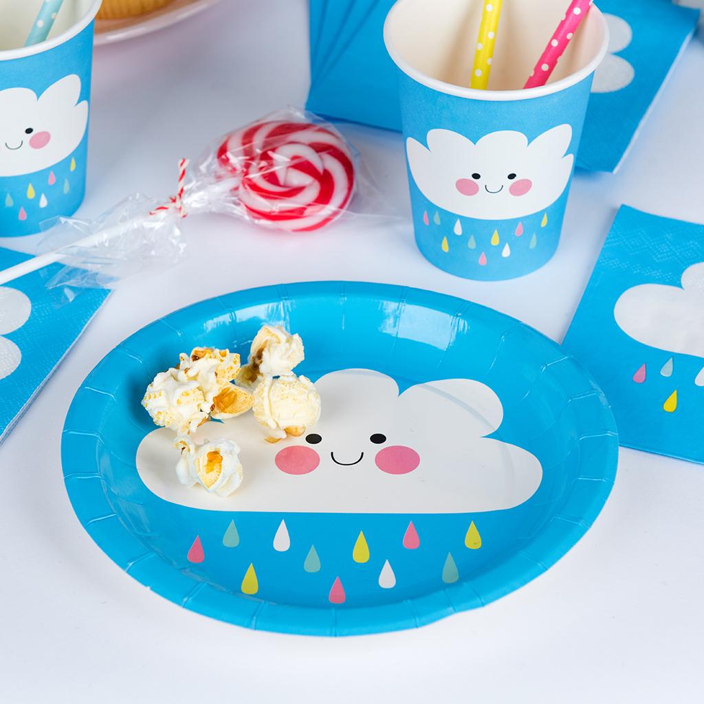 Happy Cloud Paper Plates (set Of 8)  sc 1 st  Dotcomgiftshop & Happy Cloud Paper Plates (set Of 8) | Rex London (dotcomgiftshop)