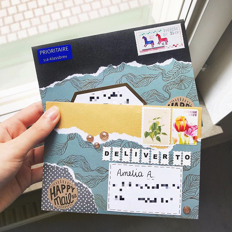 Pen pal envelope by happykittymail