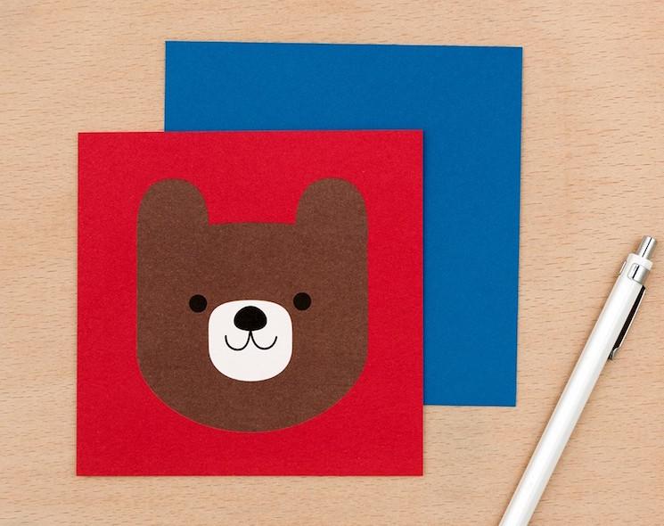 hello bear greetings card from dotcomgiftshop