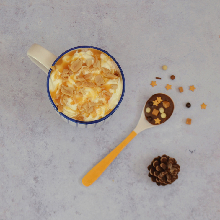 Honeycomb toffee crunch hot chocolate