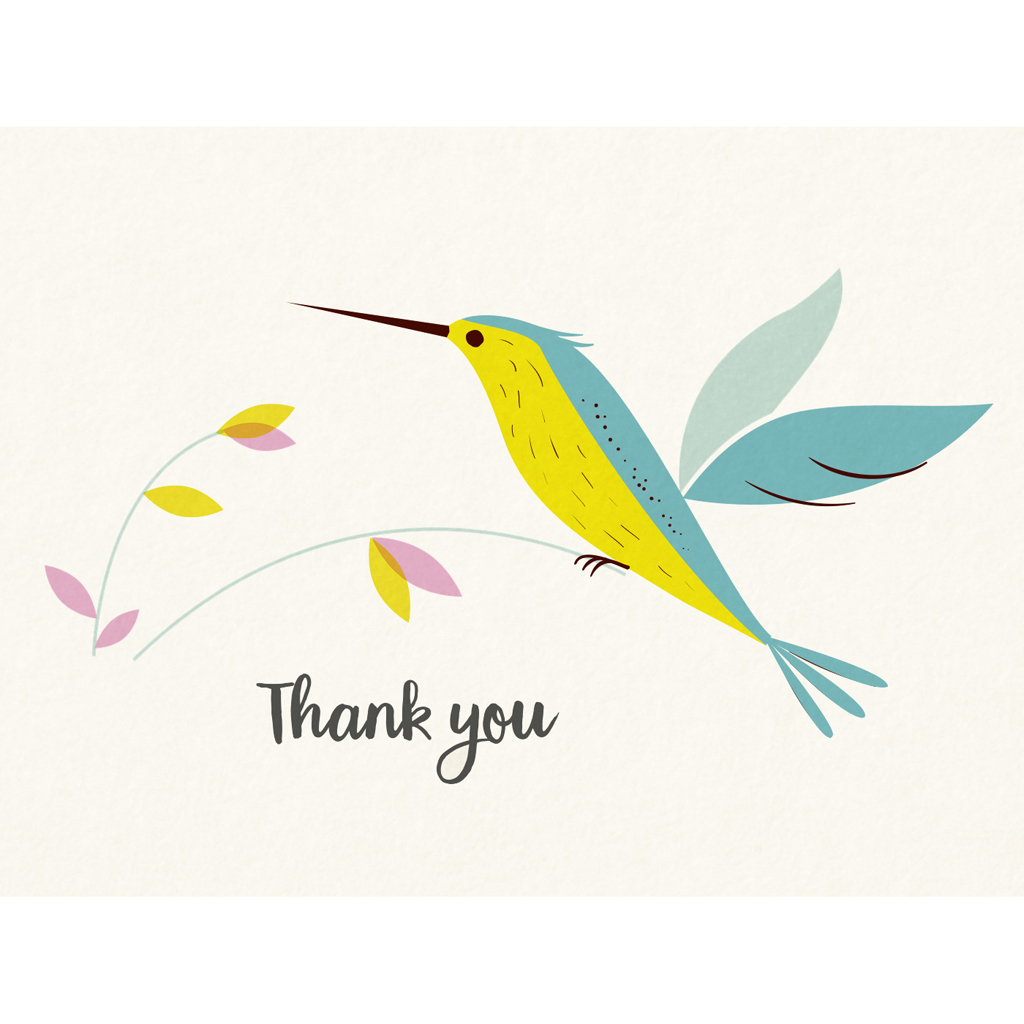 Hummingbird thank you card rex london dotcomgiftshop hummingbird thank you small greeting card m4hsunfo