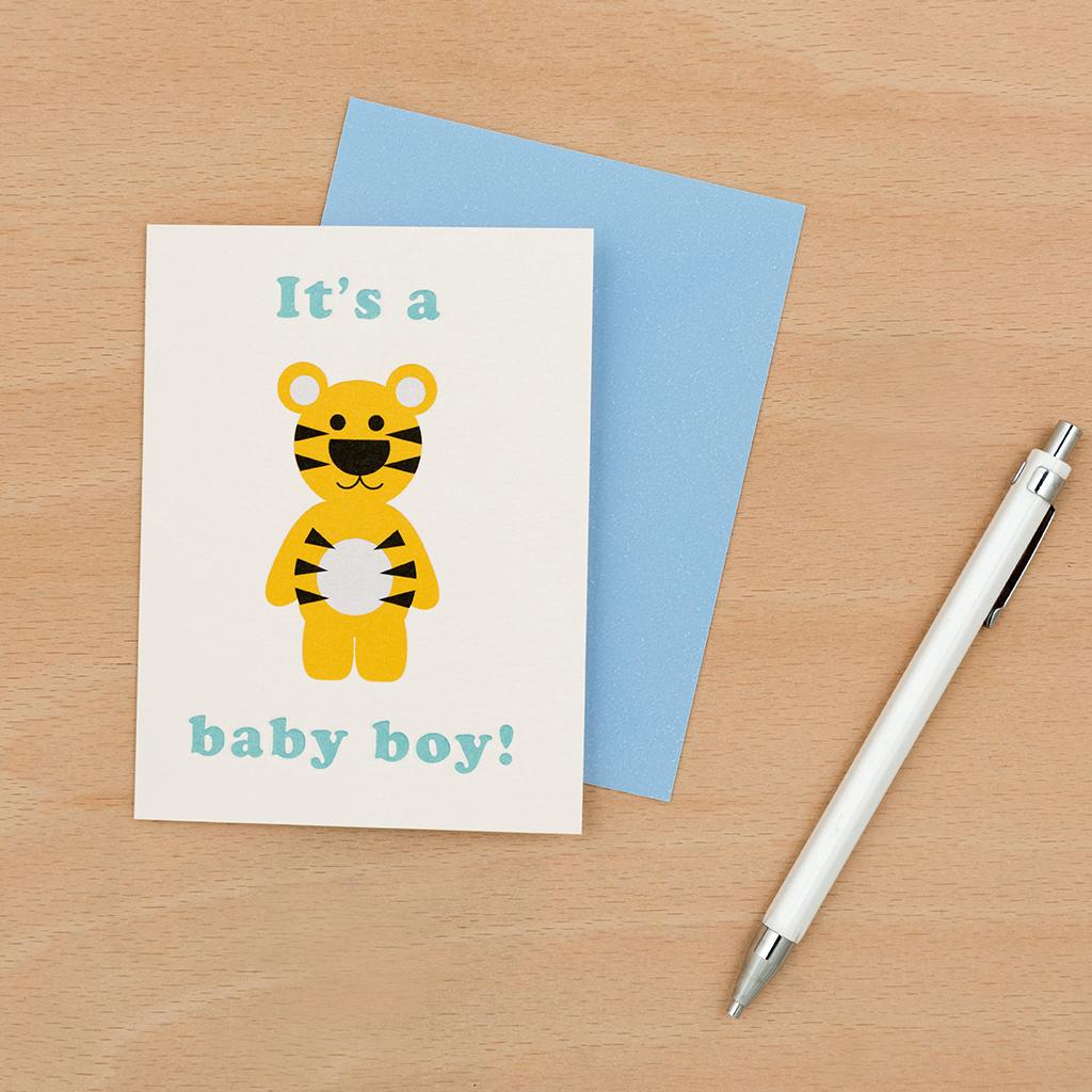 it s a baby boy card rex london dotcomgiftshop