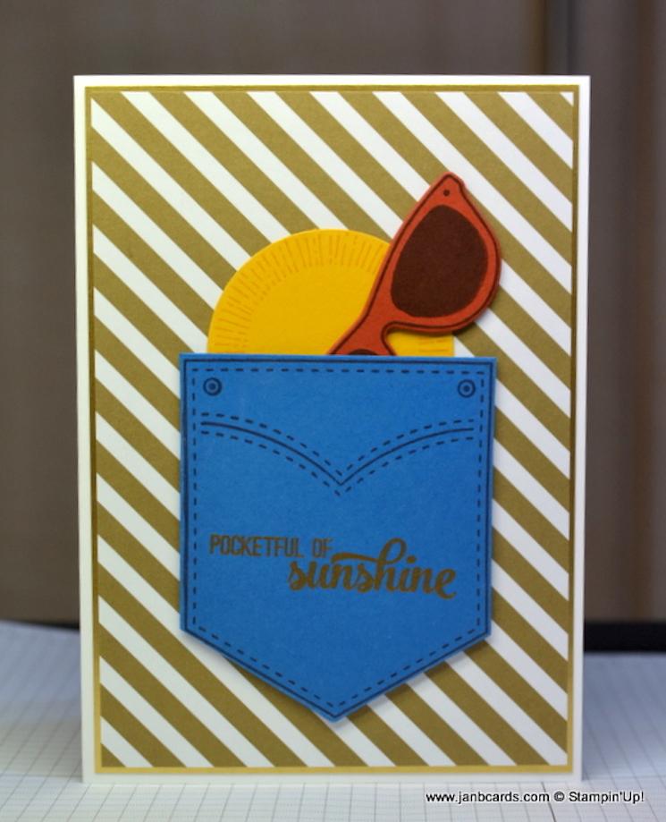 'pocketful of sunshine' card design by JanB