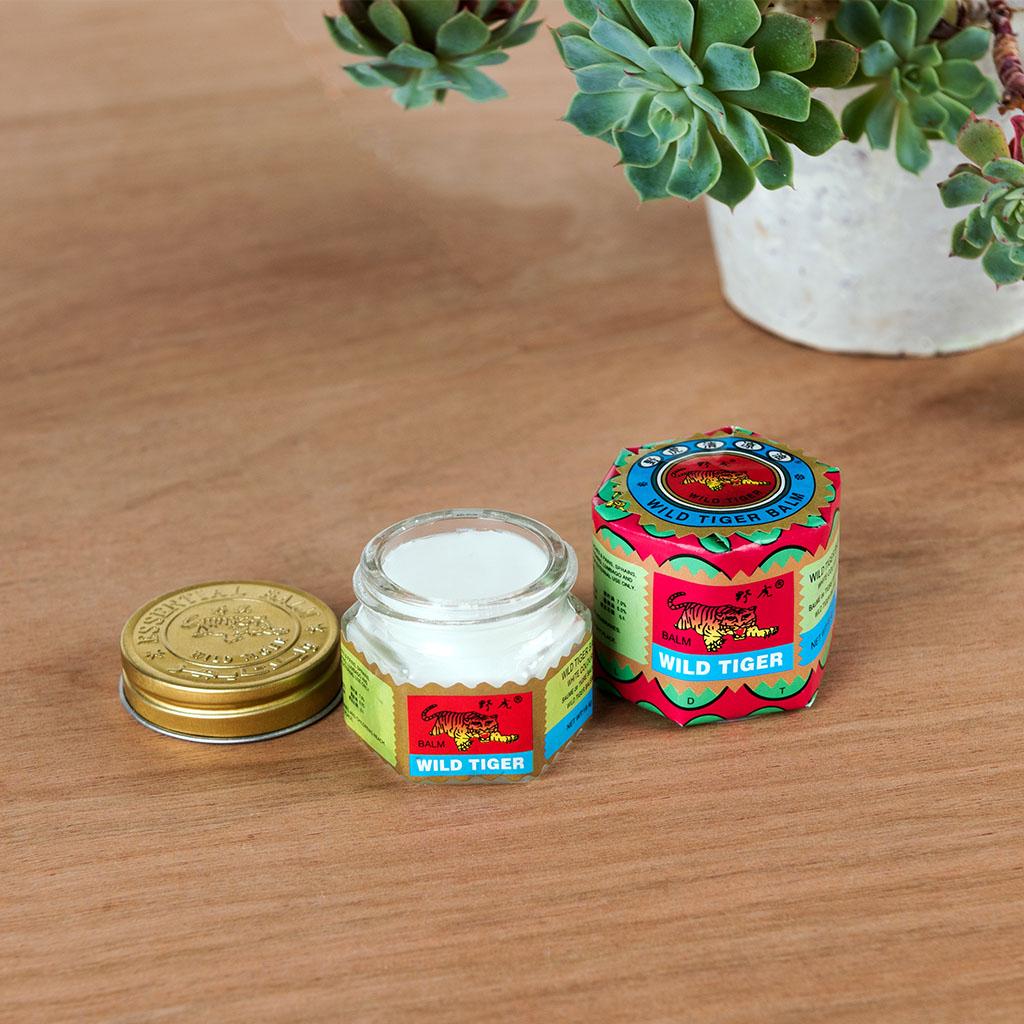 18.4g glass jar of white tiger balm