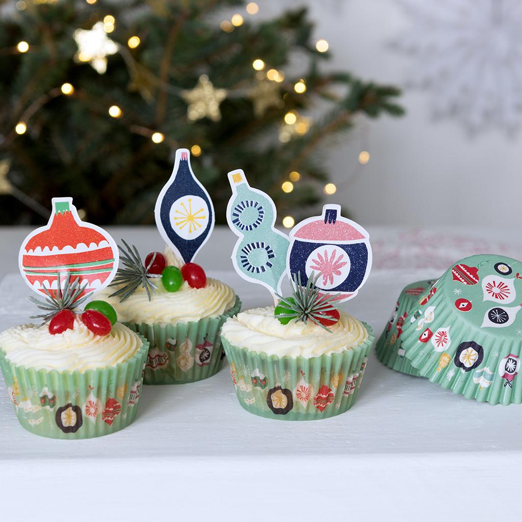 Jolie noel cupcake kit rex london dotcomgiftshop - Jolie cupcake ...