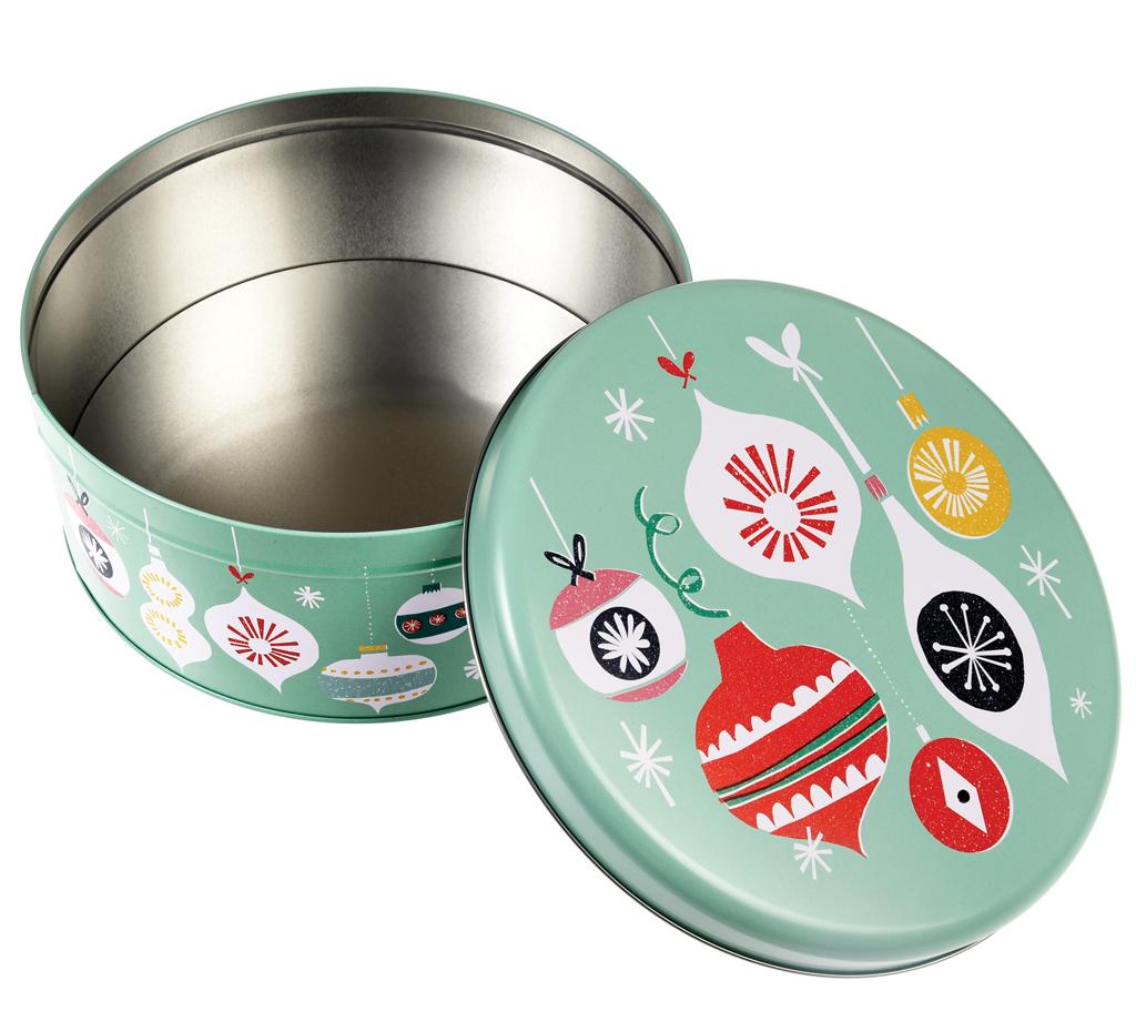 Christmas Tins.Jolie Noel Christmas Cake Tin