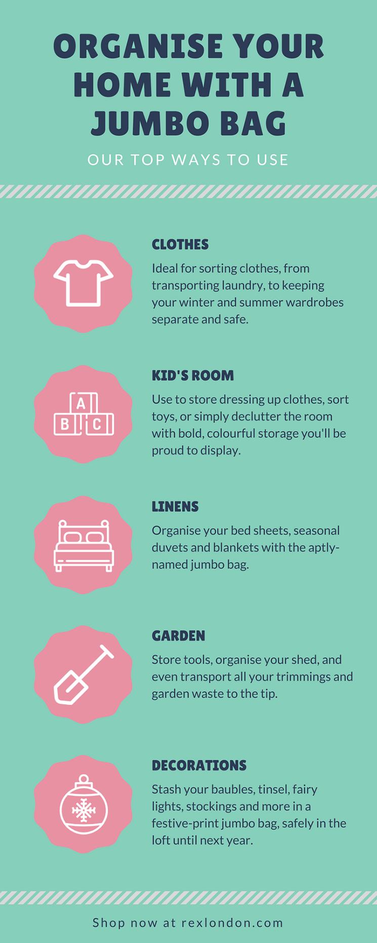 Jumbo storage bag infographic
