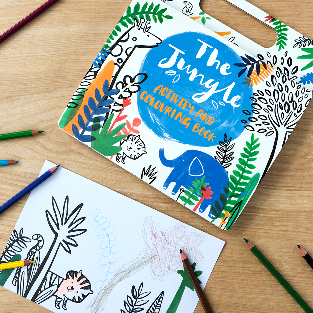 JUNGLE COLOURING AND ACTIVITY BOOK