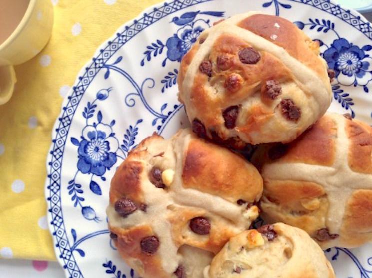 Kerry's homemade hot cross buns