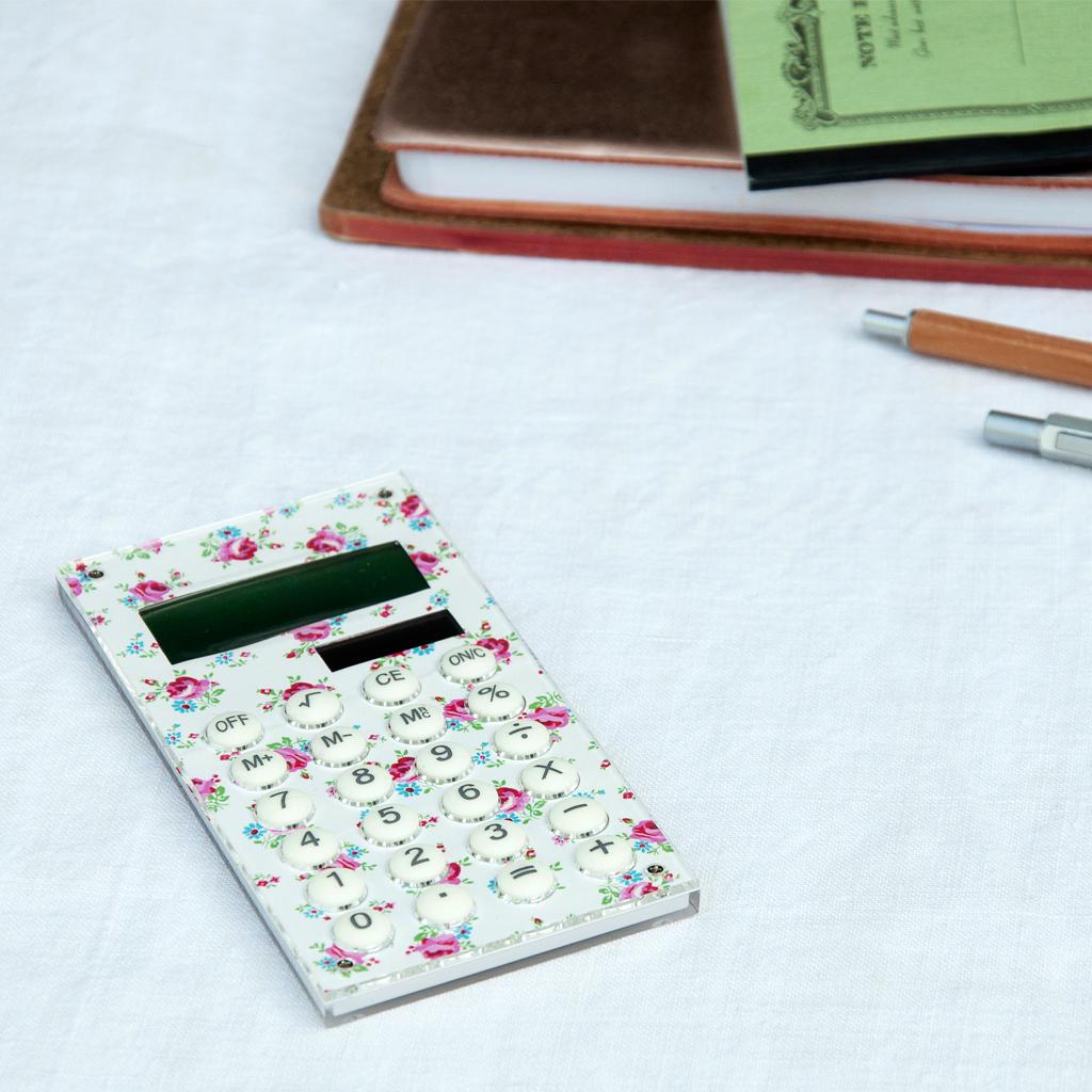 Wedding Gift Calculator Uk : ... about dotcomgiftshop LA PETITE ROSE SOLAR POWERED HANDHELD CALCULATOR