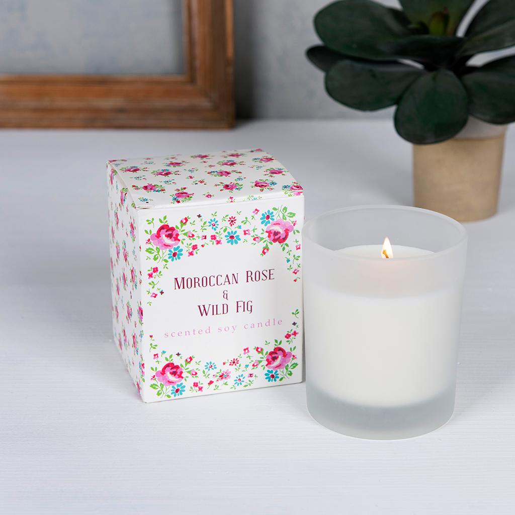 La Petite Rose Boxed Scented Candle | Rex London (dotcomgiftshop)