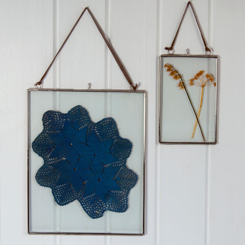 large glass hanging frame dotcomgiftshop