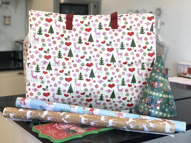 christmas print jumbo bag