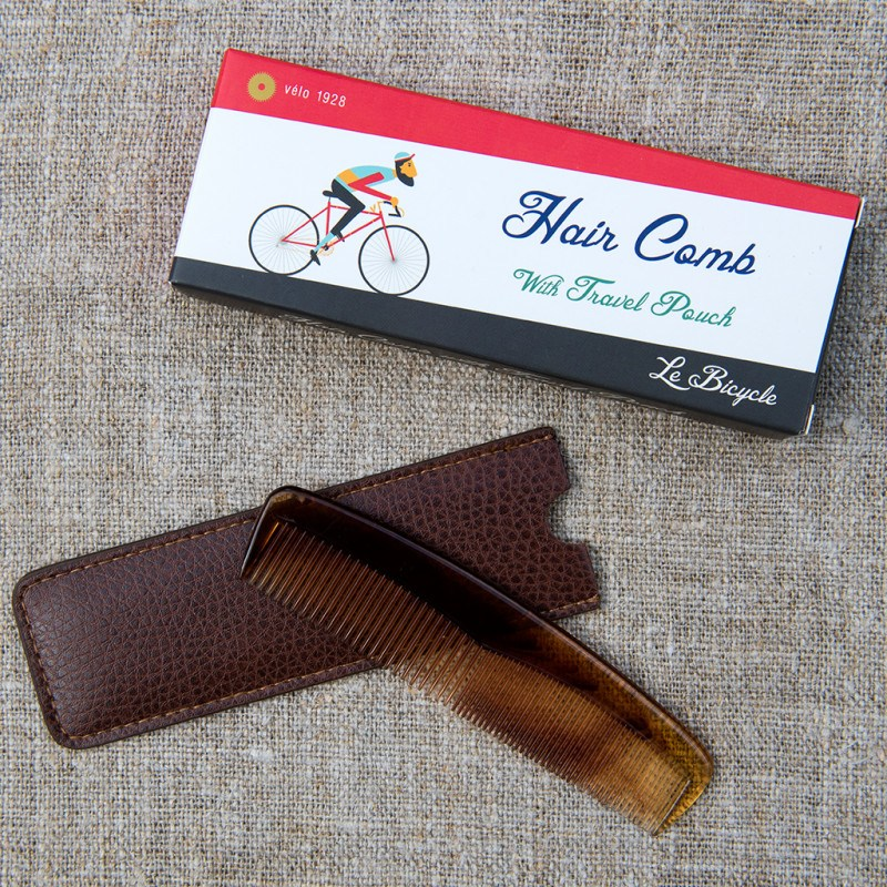 Le Bicyle hair comb with travel pouch