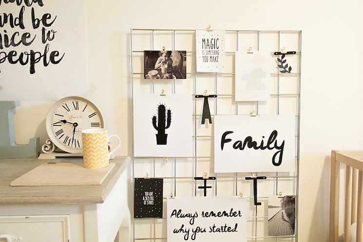 wall clips are perfect for keeping letters tidy