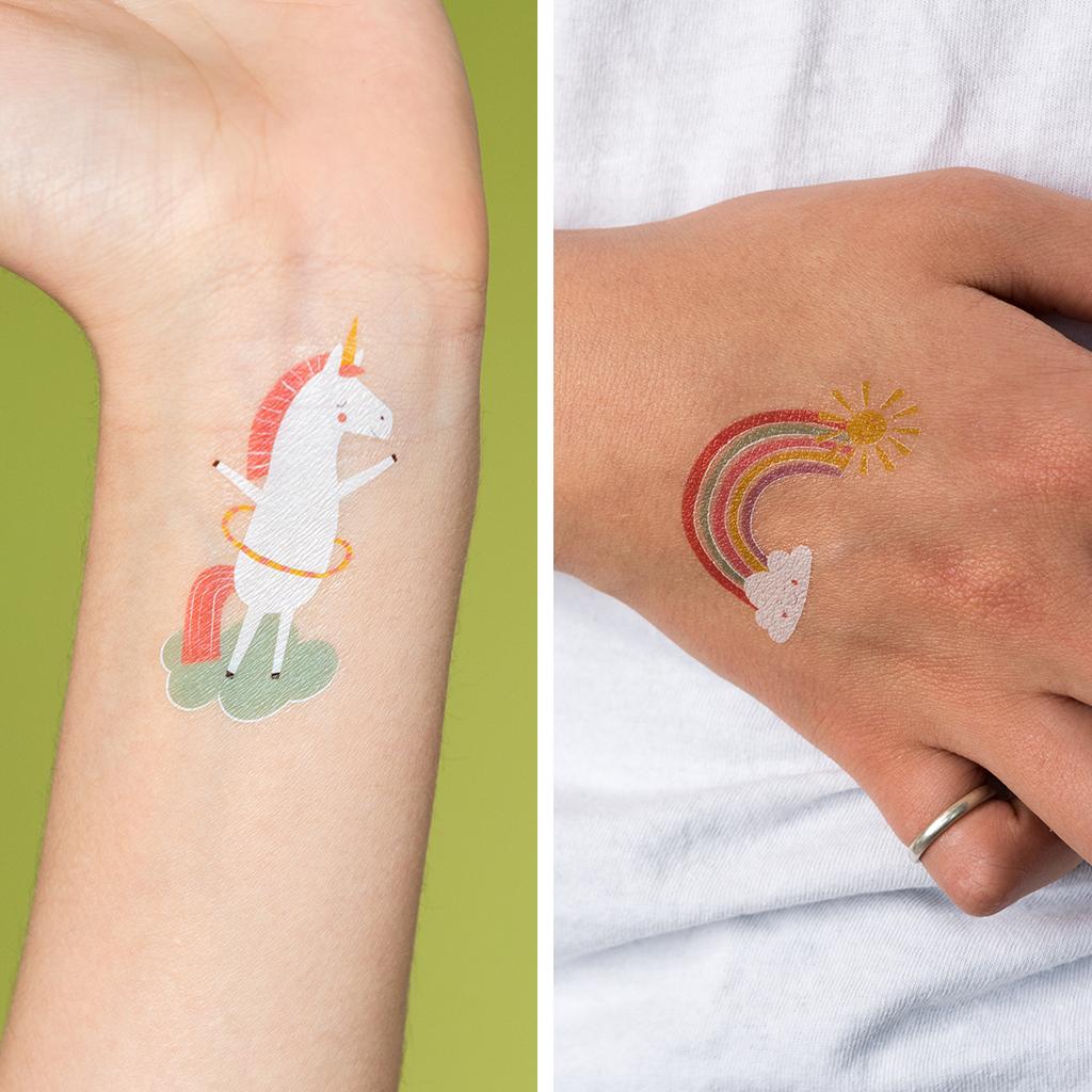 3c9a0191b Magical Unicorn Temporary Tattoos (2 Sheets) | Rex London ...