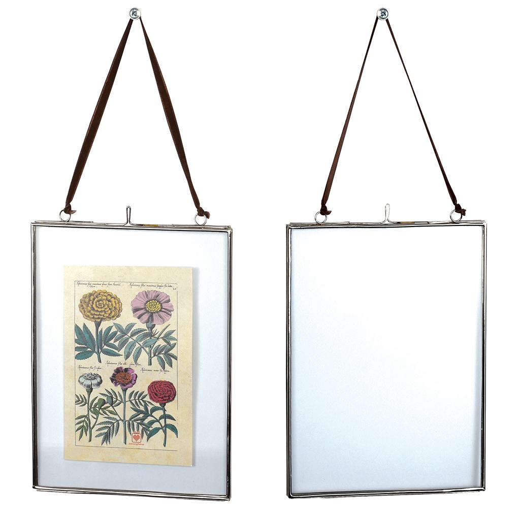 Glass Hanging Frame In Silver 15x20cm | Rex London (dotcomgiftshop)